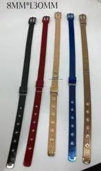 Adjustable Strap Belt Buckle Stainless Steel Mesh Bracelet Women, Size: 8MM*1.30MM