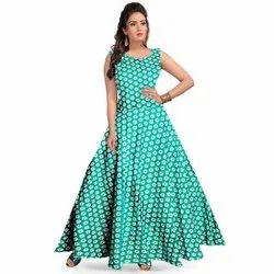 Stitch Green Gown, Size: Free Size