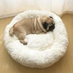 White Dog Sleeping Bed Medium Size
