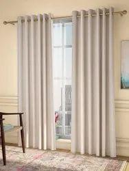 Brown Cotton Designer Window Curtain