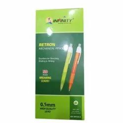 Black Infinity Mechanical Pencil, For School, Packaging Size: 2 Pcs