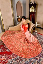 Wedding Wear Hand Work Designer Lehenga, 2.5mtr, Adult