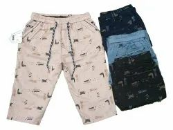 Satin Men Printed Capri, Size: Large