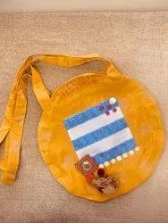 Yellow Color Cotton Fashion Tote Bag