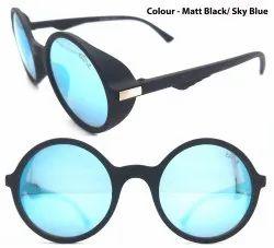 Lensohub Plastic Men Round Shape Sunglasses, For Eye Wear