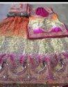 Orange, Purple And White Wedding Wear Ladies Fancy Designer Lehenga, 2.70 Meter