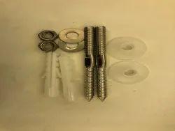 SS Wash Basin Rack Bolt, For Sanitary Fitting, 1 Pair