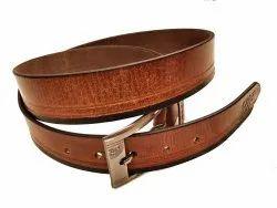 Brass Tan Men Formal Brown Leather Belt