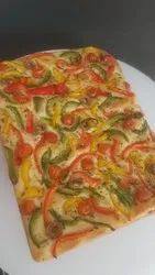 Soft and Flavorful Bell Pepper Focaccia Bread, For Bakery, Packaging Type: Box