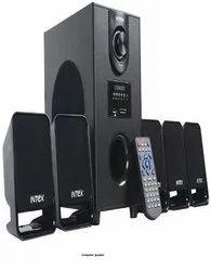 Black IT-500B 5.1 Intex Computer Speaker, 4 Ohm, 1000W