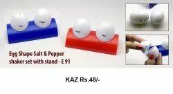 EGG Shape Salt & Pepper Shaker Set With Stand