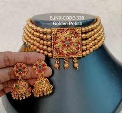 婚礼金珠宝设计师传统项链集