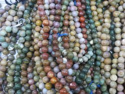 Large 12mm Upto 16mm Indian Agate Round Stone Beads