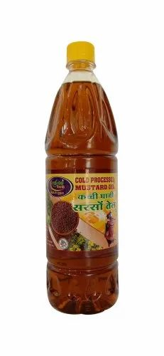 Satvikfresh 1 Litre Cold Processed Mustard Oil, Packaging Type: Plastic Bottle