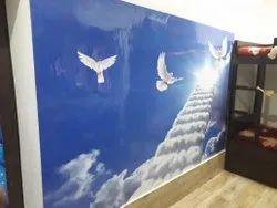 Digital Wall Printing Service, For Indoor, Waterproof