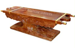 Wooden Dhroni On Banyan Tree Base Table