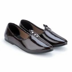 Men Brown Nagra Jutti, Size: 6 To 11