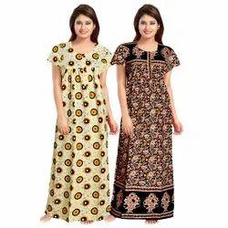 Printed Multicolor Jaipuri Cotton Nighty