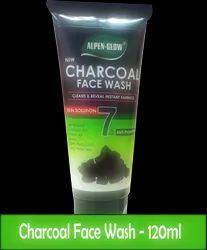 Herbal Black ALPEN-GLOW Activated Charcoal Face Wash - 120 ml, Gel, Age Group: Adults