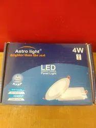 Warm White 4 W Astro Light LED Panel Light, For Home,Office, 230 V