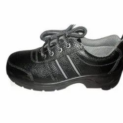 S.S.Corporation Black Leather Shoe, For Foot Wear, Size: 6