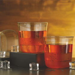 Plastic Transparent Square PRT Glass for Restaurant, Capacity: 250mL