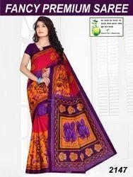 Somnath Ladies Casual Cotton Saree, 5.4 m