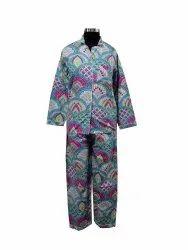 Block Print Cotton Printed Night Suit