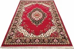 For Home And Office Ethnic Persian Red Acrylic Carpet