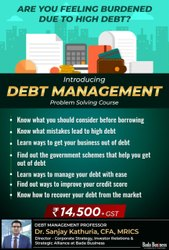 Recorded Debt Management Course, Finance