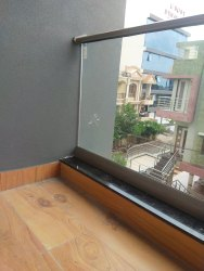 Panel Silver Balcony Aluminium Glass Railing Fitting, For Home