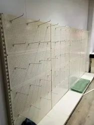 Perforated Rack With Hooks