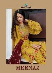 Your Choice Meenaz Real Georgette Designer Salwar Suit Catalog