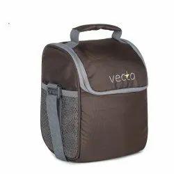 Dobby Fabric Plain Vecto Foodie - Brown Waterproof Lunch Bag