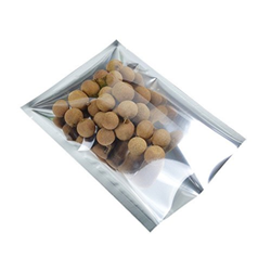 One Side Silver One Side Transparent Three Side Seal Bags