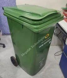 120 Liters Wheeled Plastic Garbage Bin