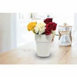 White Marble Flower Pot