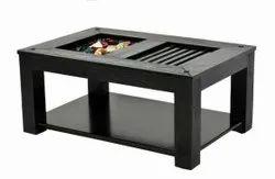 10 Kg Wooden Rectangular Black Center Table