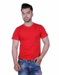 Plain Regular Fit Round Neck T Shirt