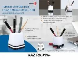 Tumbler With USB Hub Lamp & Mobile Stand