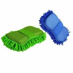 Microfiber Cleaning Cloth Sponge Hand Gloves Car Dashboard Cleaning
