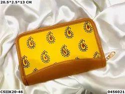 Craftstages International Printed Ikkat Designer Wallet