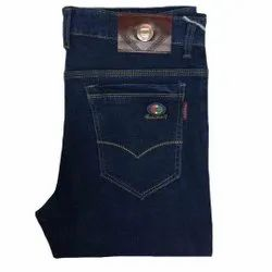 Plain Casual Wear Men Regular Fit Denim Jeans, Waist Size: 28