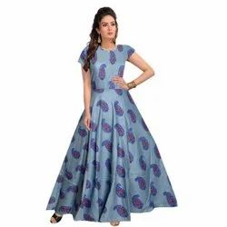 Ladies Long Gowns, Size: Free Size