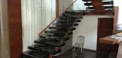 Wooden Glass Staircase Railing