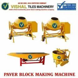 Cement Tiles Interlocking Machine