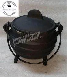 Black Cast Iron Biryani Cooking Pot, For Tableware