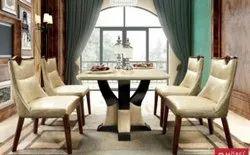 Mobel Furniture Marble Top SR/HA-T3015 Vivo Dining Set