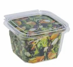 Transparent PET Clamshell Box, For Food Packaging
