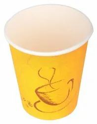 Paper Disposable Tea/coffee Cups (yellow, 0.25 L) -set Of 25 Piece